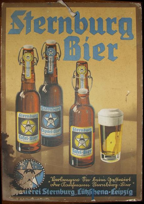 Antiguo reclamo publicitario de la cerveza Sternburg