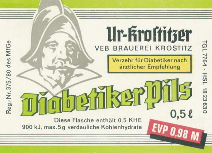Cerveza tipo pilsen para diabéticos Ur-Krostitzer
