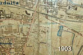 Reudnitz 1903 (Ausschnitt, Archiv Harald Stein / wortblende)