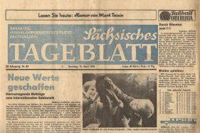 Sächsisches Tageblatt vom 12. April 1970