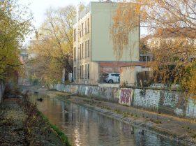 Blick zurück, hier ist die Berliner Straße rechts