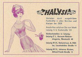 Thalysia-Anzeige vom Februar 1964