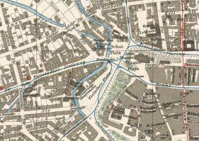 Feuerwache und Umgebung auf einem Plan von 1912 (Archiv Harald Stein)