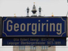 Straßenschild Georgiring