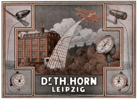 Horn-Reklame von 1917 (mit dem Gebäude in der Hornstraße)